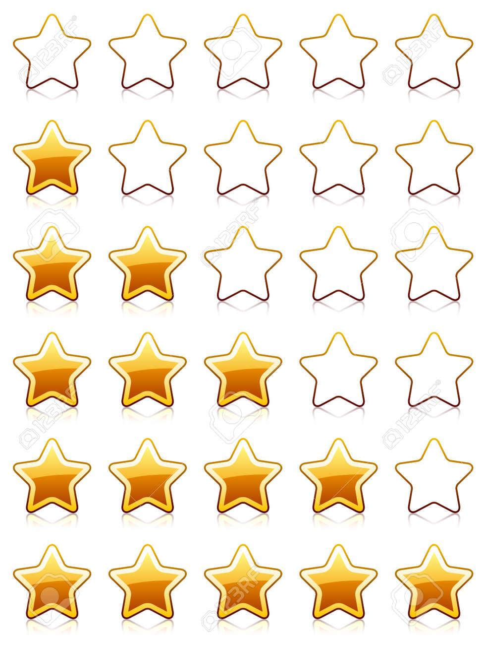 vector rating stars Stock Vector - 11520625