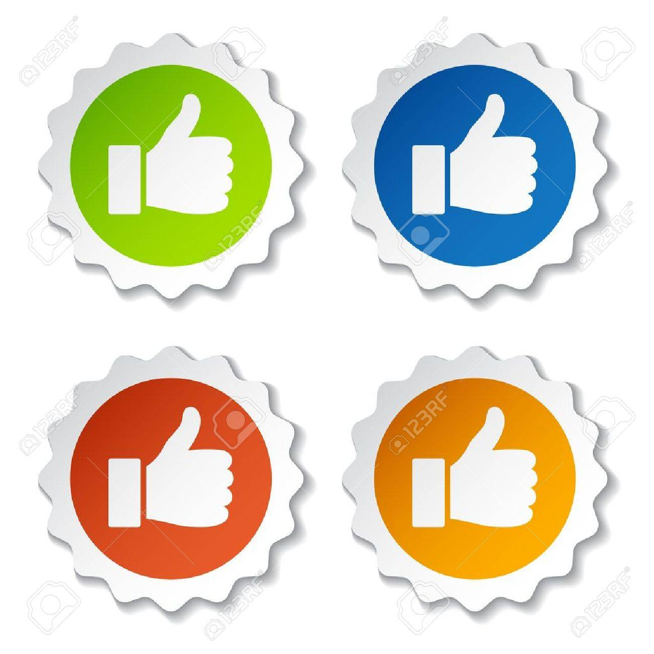 vector thumb up stickers - 11525604
