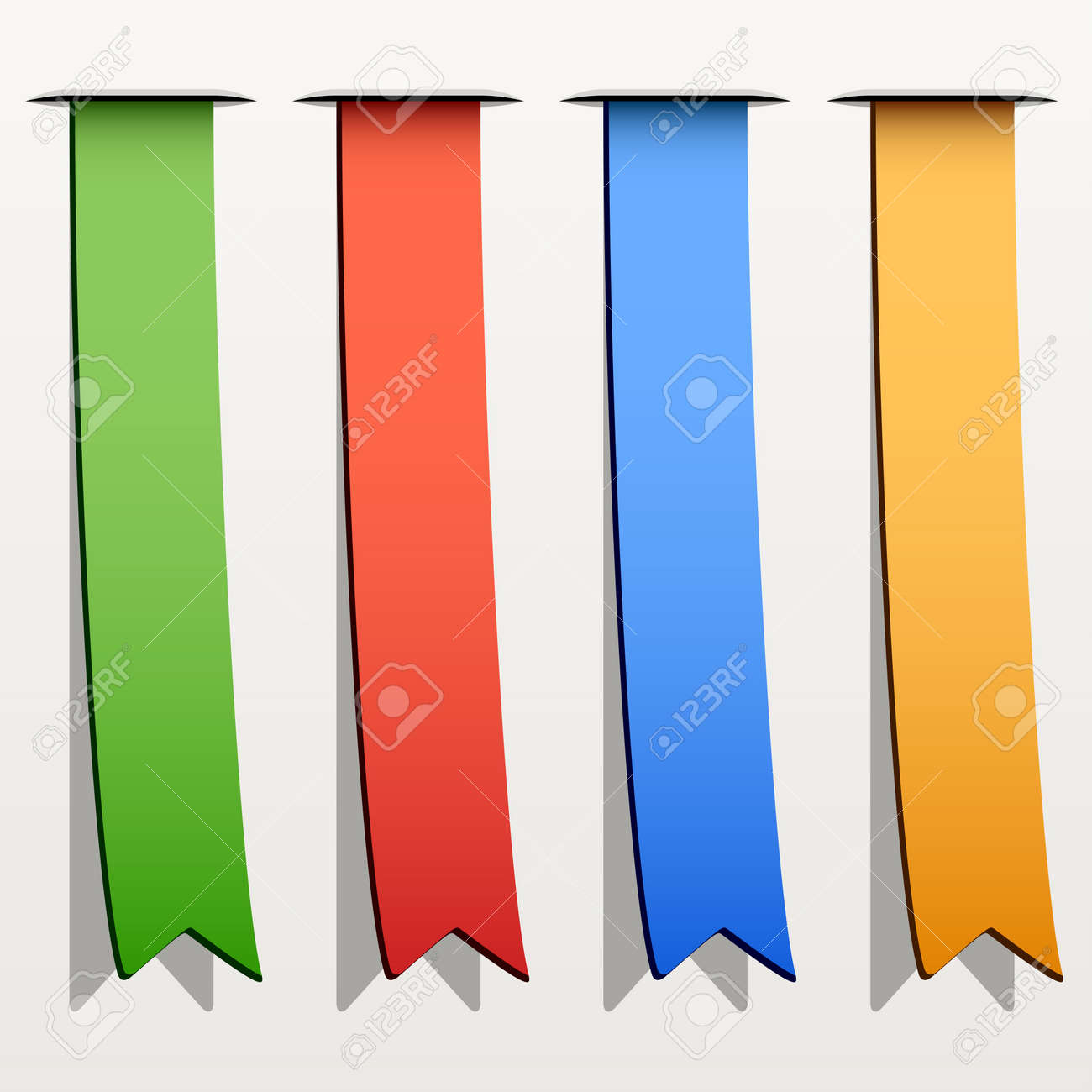 vector colored ribbon stripes Stock Vector - 11564069