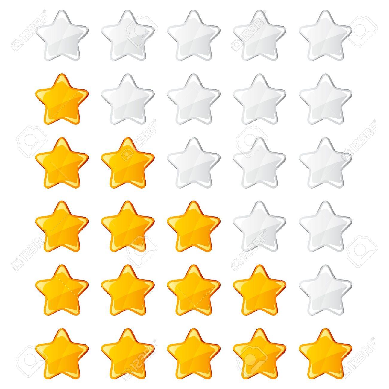 vector yellow shiny rating stars Stock Vector - 11564690