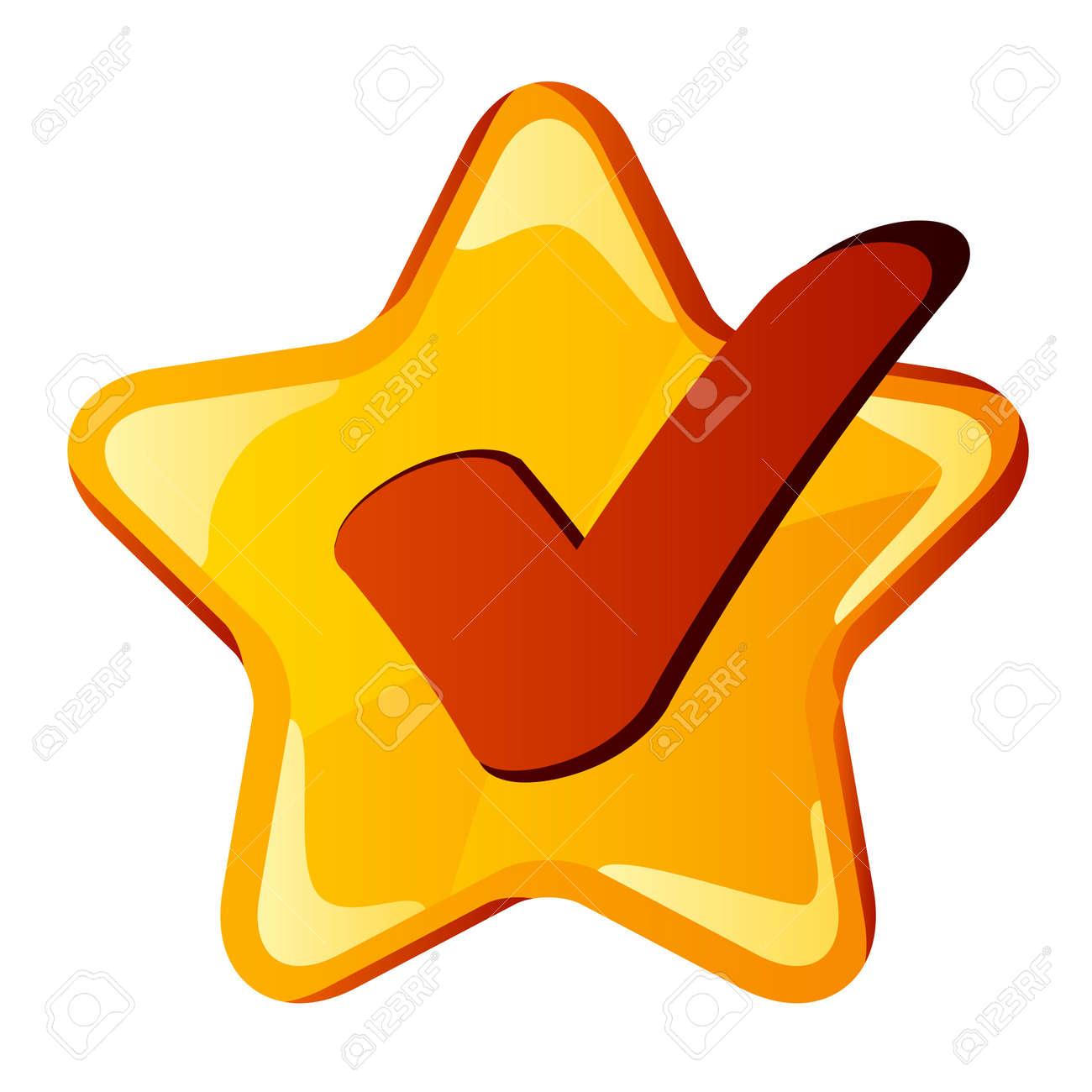 vector yellow checkmark star Stock Vector - 11563959