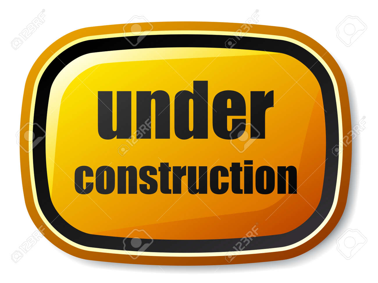 vector under construction rectangle rounded button Stock Vector - 11564647