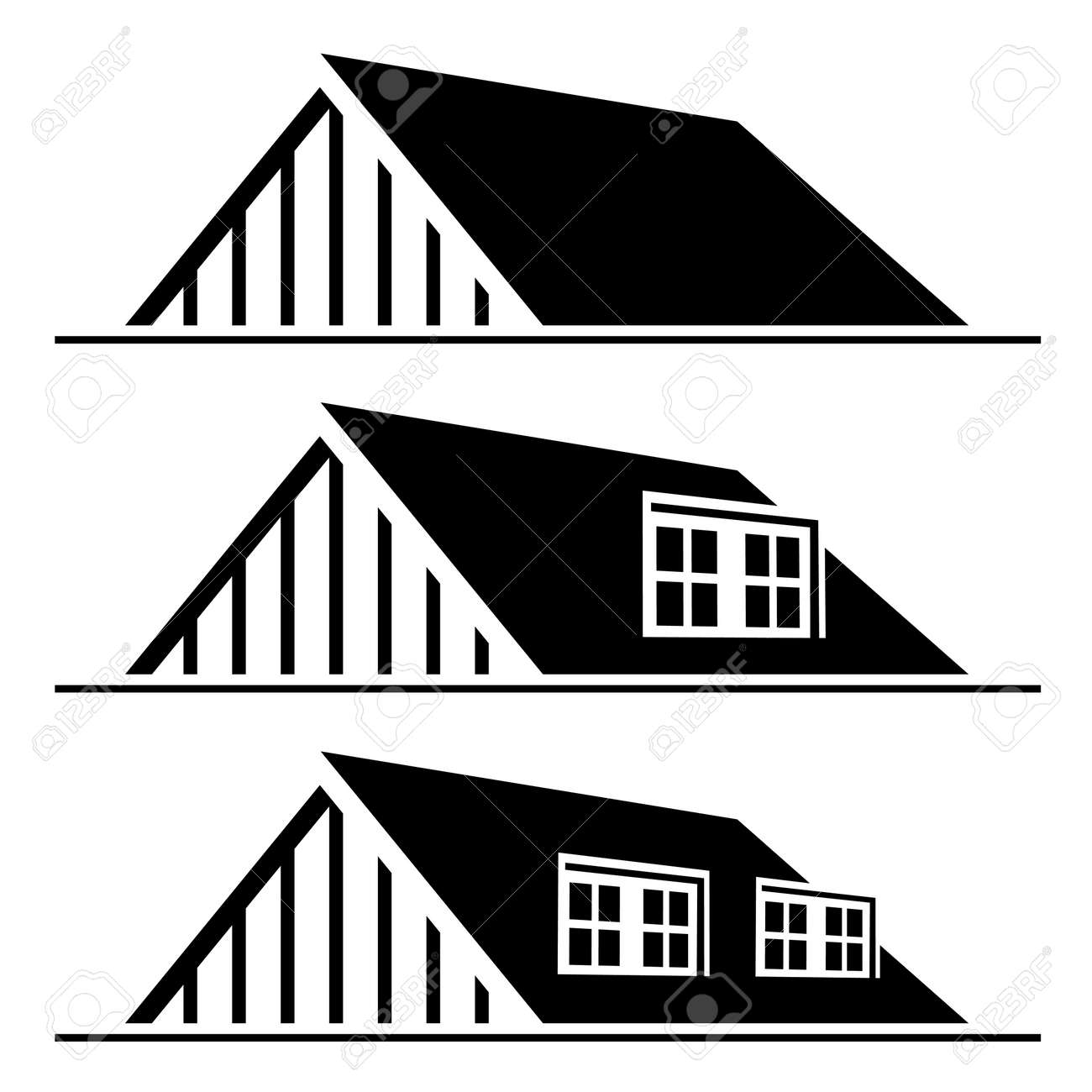 Vector vector black house roof silhouette
