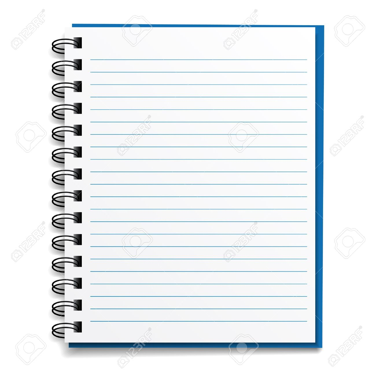 Vector Blank Lined Notebook Royalty Free Cliparts Vectors And 11564632  Vector Blank Lined Notebook Photo 11564632  Notepad Paper Template