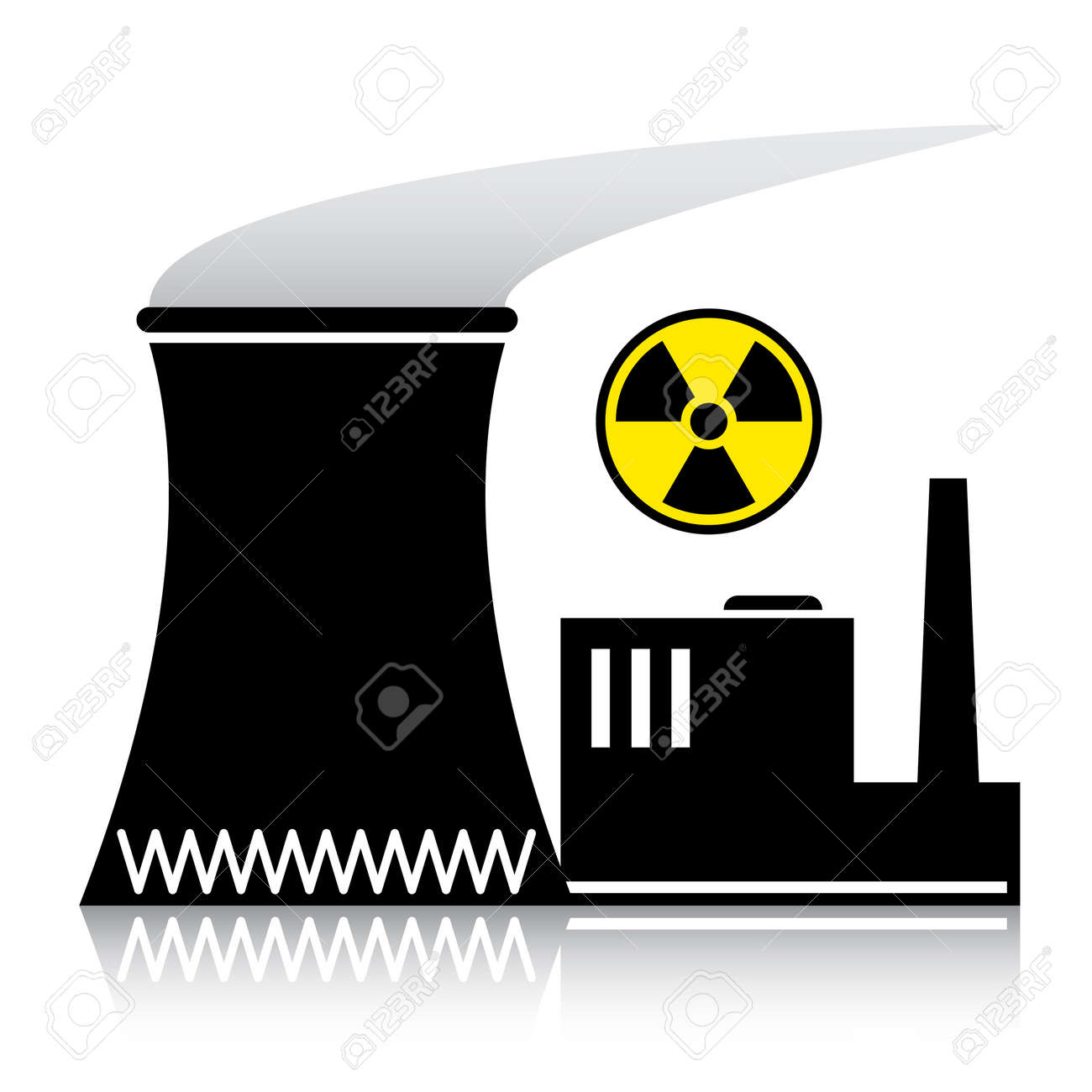 vector nuclear power plant silhouette royalty free cliparts vectors rh 123rf com electricity power plant clipart natural gas power plant clipart