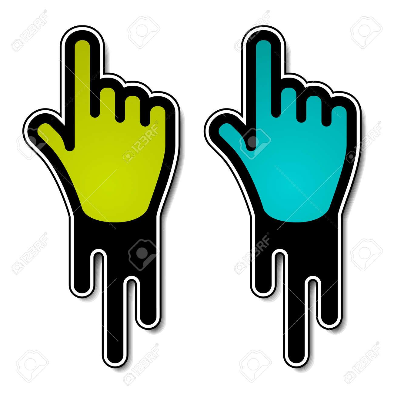 vector flowing hand pointer labels Stock Vector - 11564598