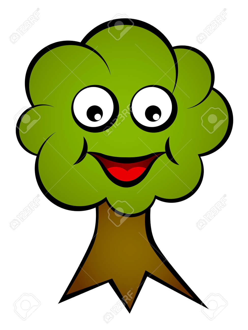 Vector Cartoon Smiling Face Tree Royalty Free Cliparts Vectors And Stock Illustration Image 11563934 Find cute cartoon pictures from our collection of adorable images. vector cartoon smiling face tree