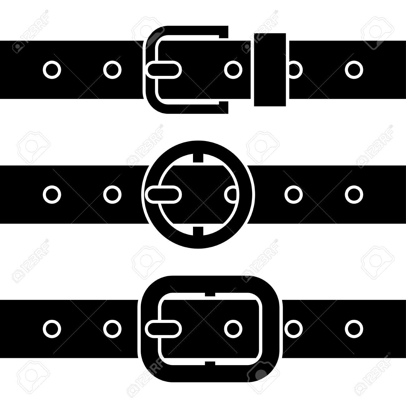 Buckle belt black symbols - 12485578