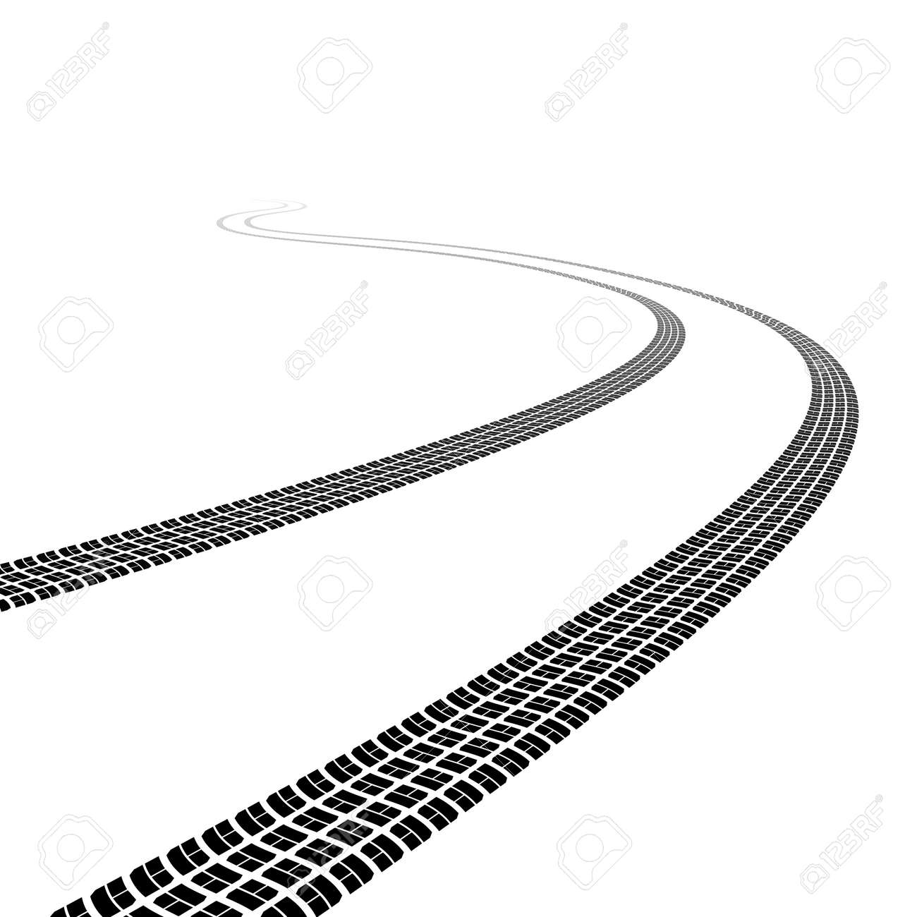 race track  Winding trace of  Race Car Track Clipart