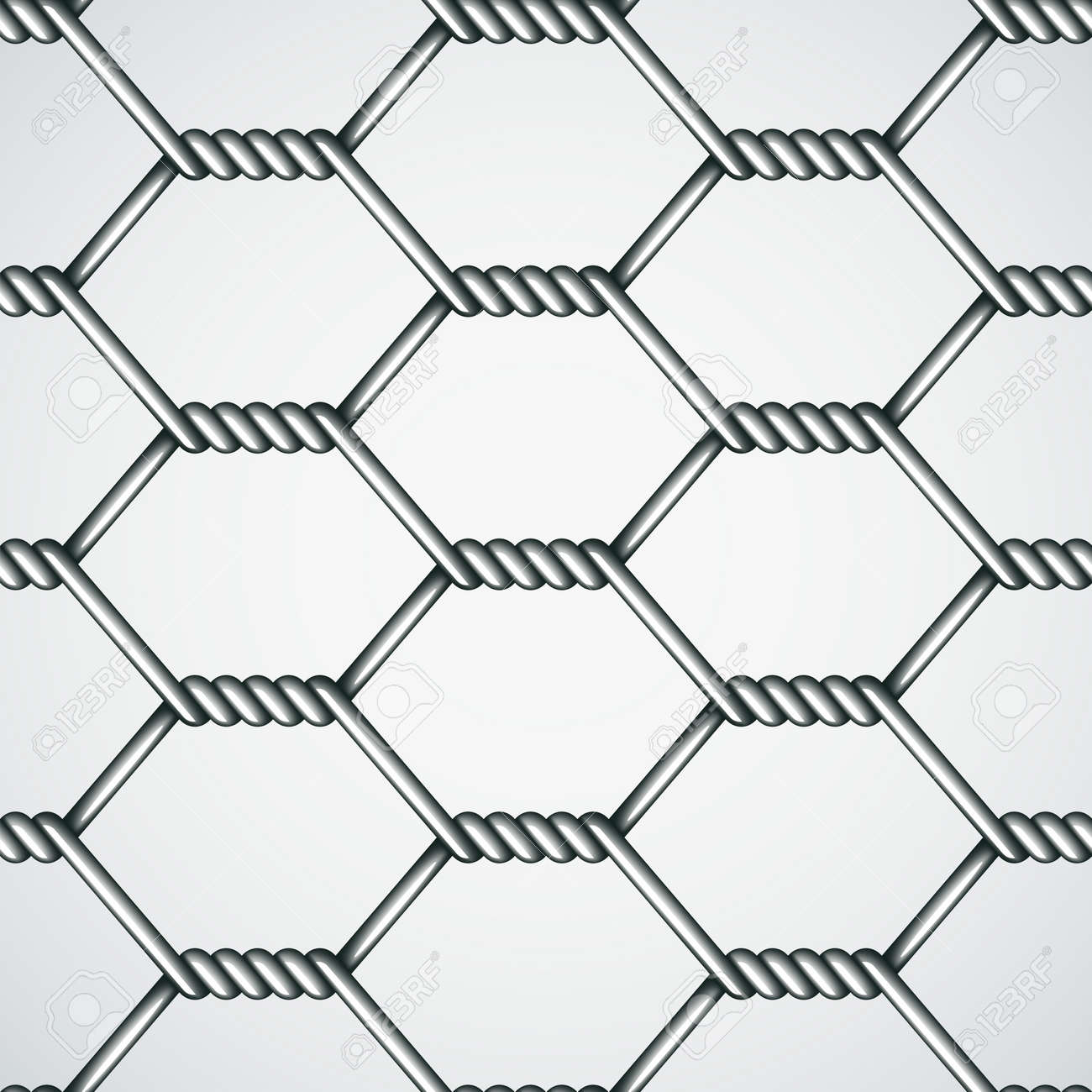 Vector Chicken Wire Seamless Background Royalty Free Cliparts ...