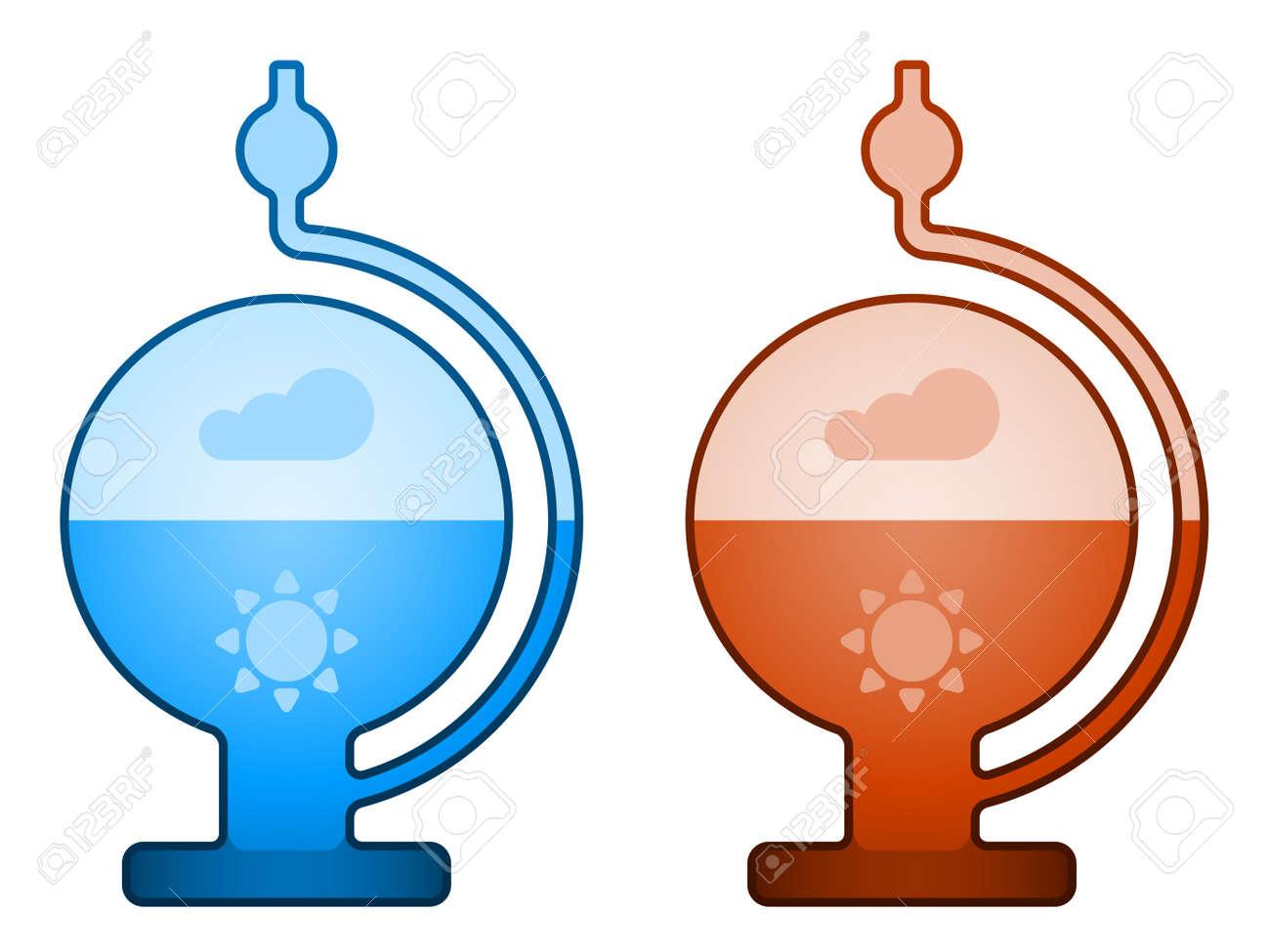 vector glass liquid barometer Stock Vector - 13540295