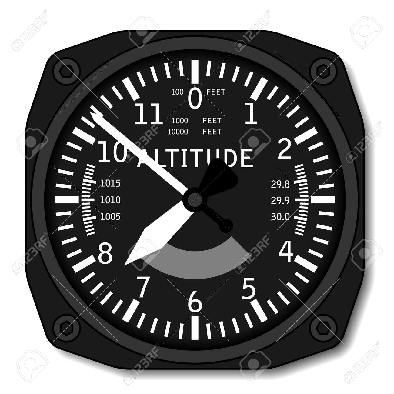 vector aviation airplane altimeter Stock Vector - 13540325