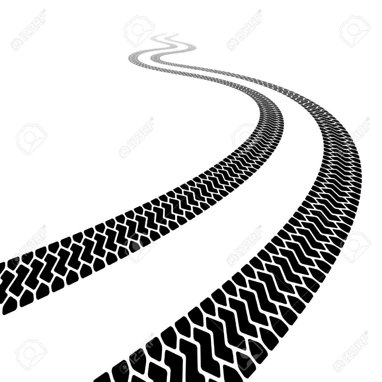winding trace of the terrain  Race Track Road Clipart