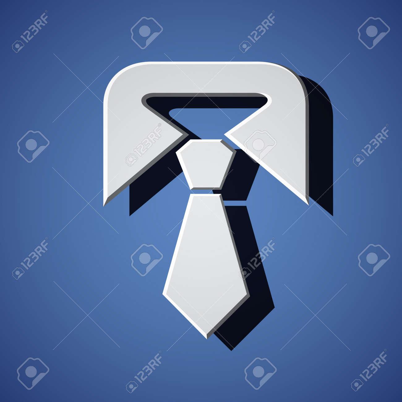 vector tie white symbol - 16161522