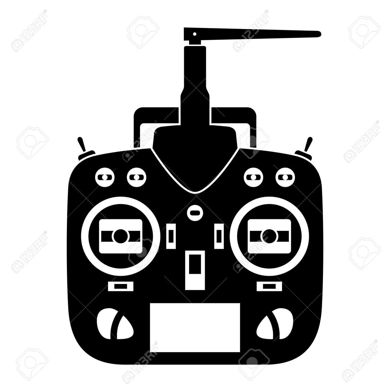 vector remote control rc transmitter black icon Stock Vector - 16161520