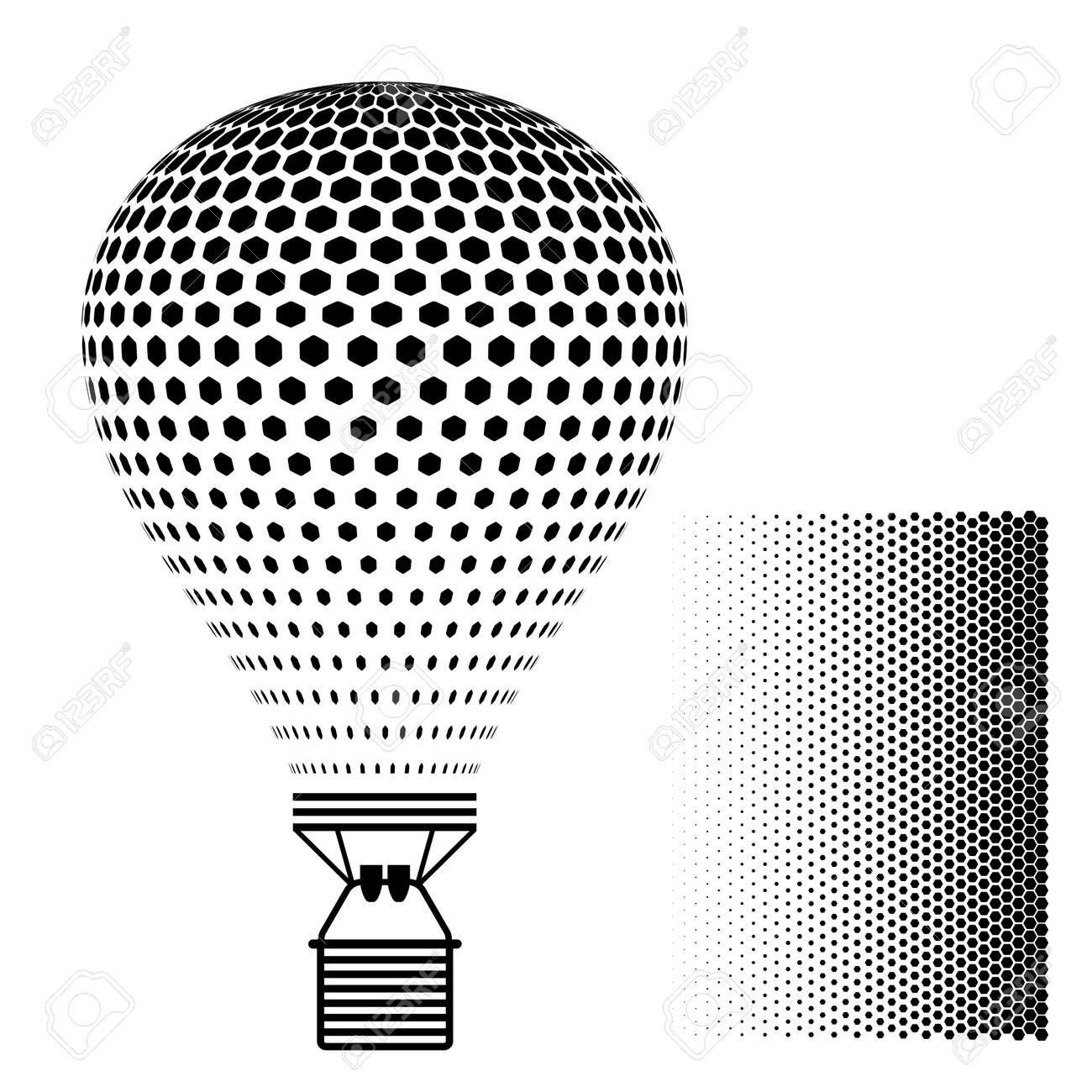 Hot Air Balloon Black Silhouette Royalty Free Cliparts, Vectors, And ...
