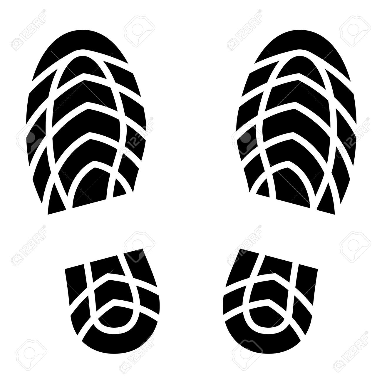 Clean Shoe Imprints Royalty Free Cliparts, Vectors, And Stock ...