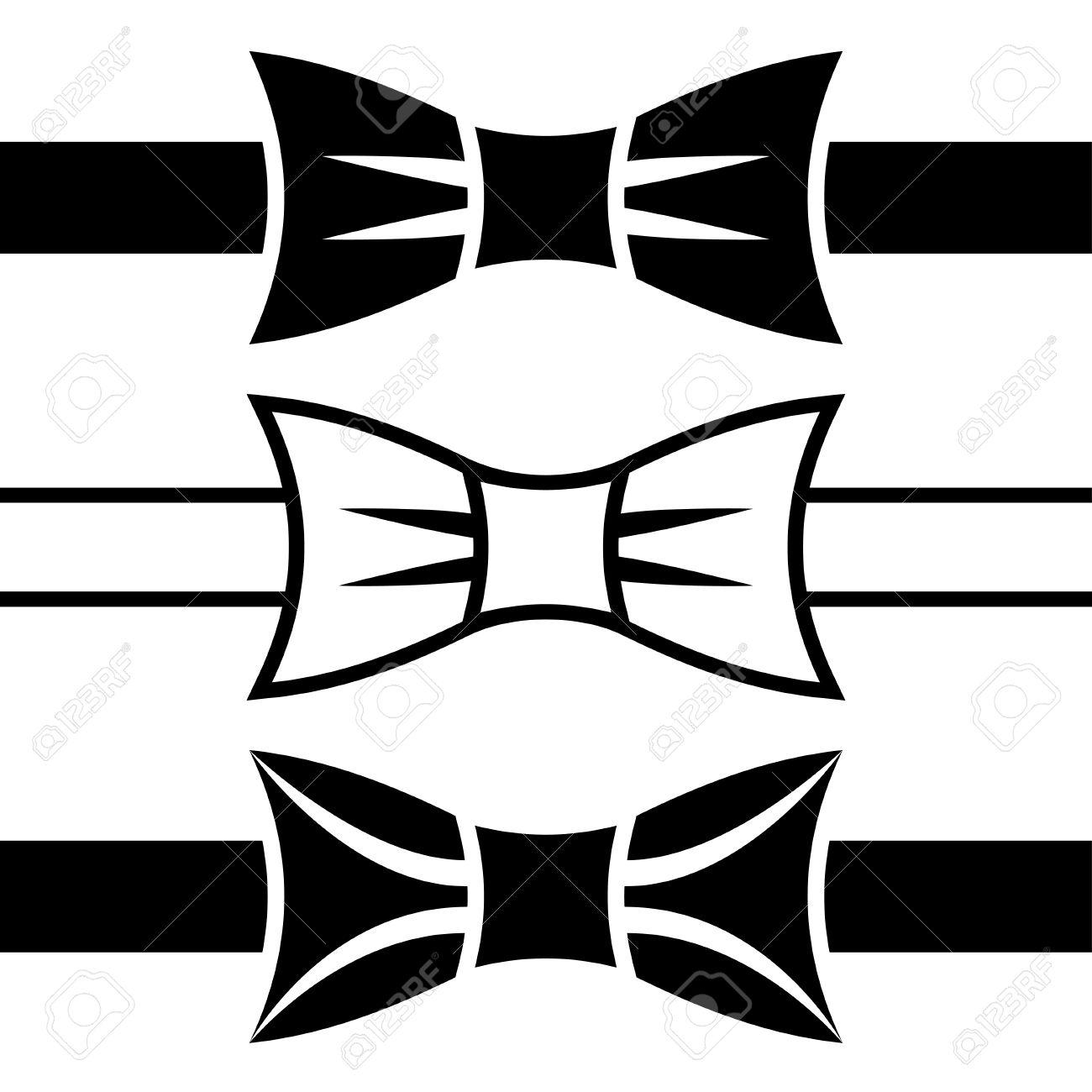 Галстук бабочка векторный клипарт