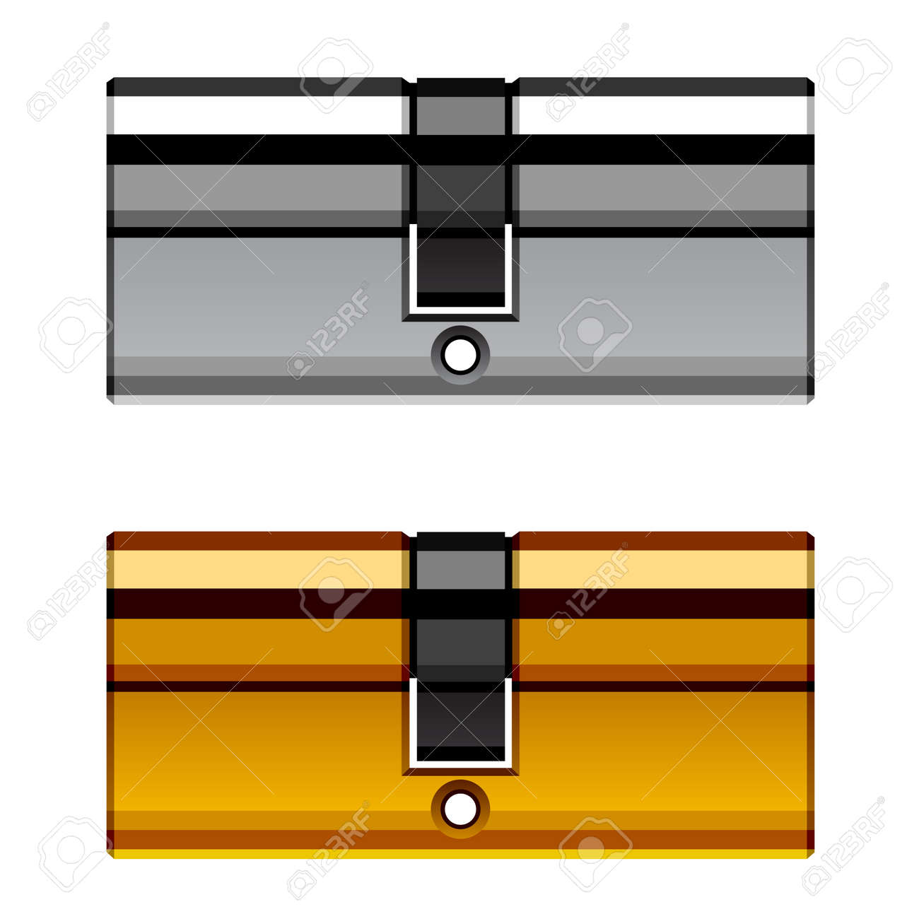 vector door lock cylinder cartridge Stock Vector - 19587392