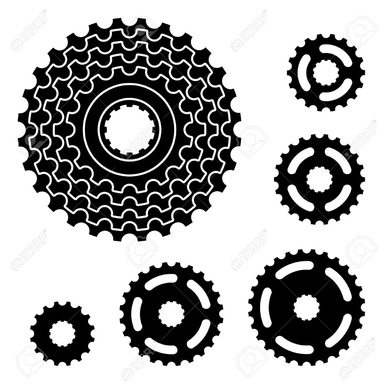 Bike Gearing Parts Vector vector bicycle gear