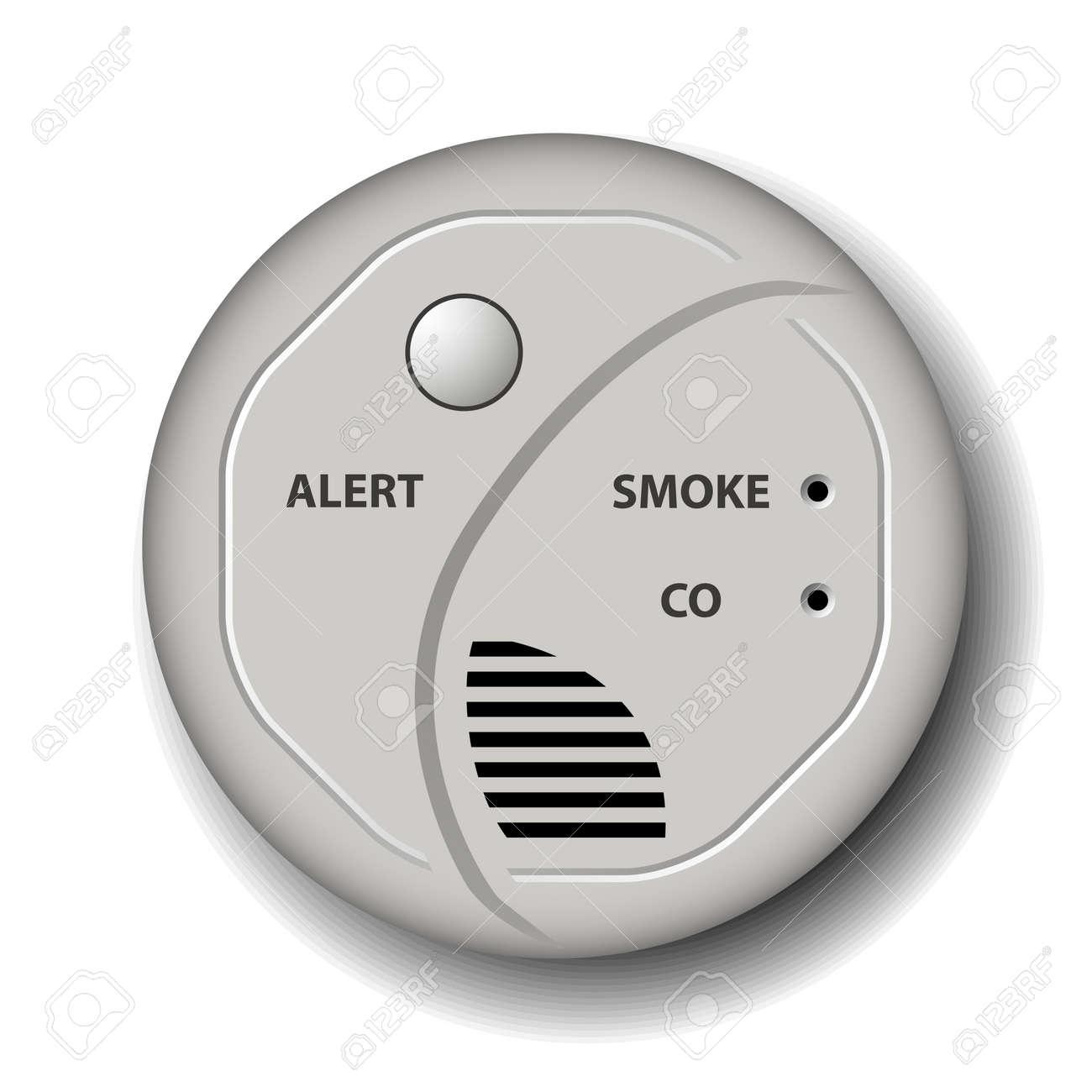 vector fire smoke carbon monoxide detector alarm - 25427589