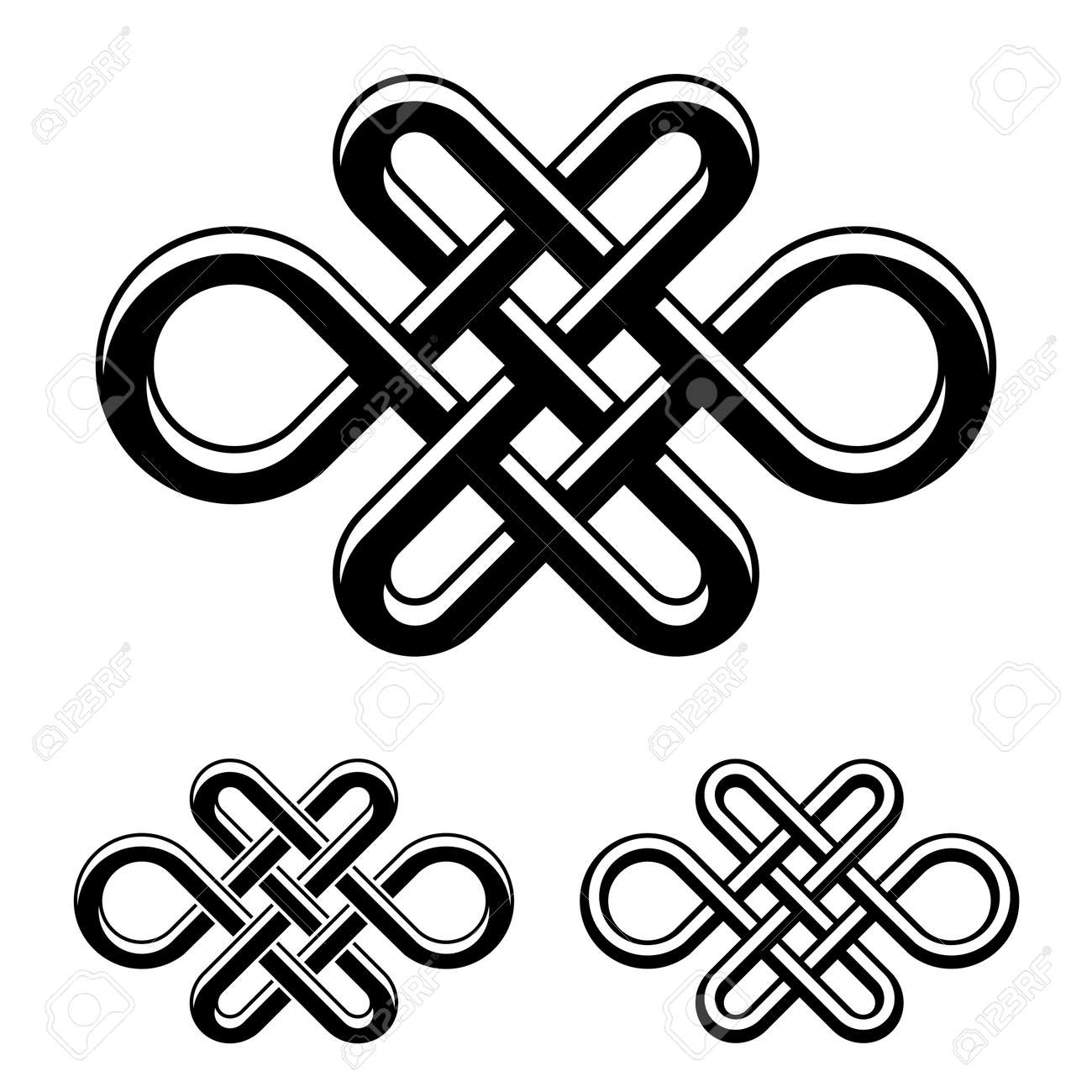Vector endless celtic knot royalty free cliparts vectors and vector endless celtic knot black white symbol vector buycottarizona Image collections