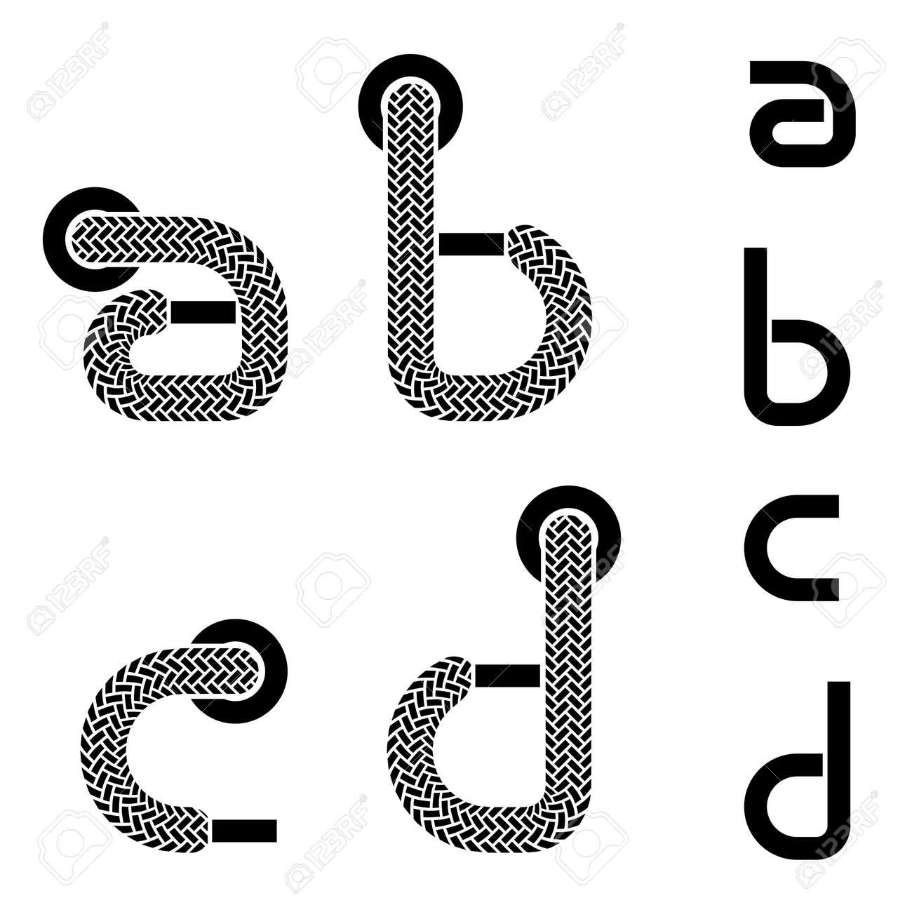 Vector Shoelace Alphabet Lower Case Letters A B D C D B Royalty Free c4ce46