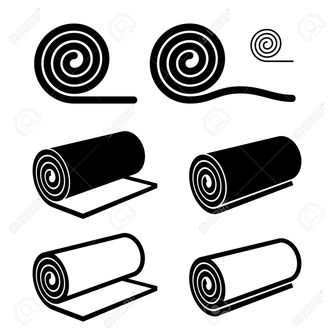 roll of anything black symbol - 59784246
