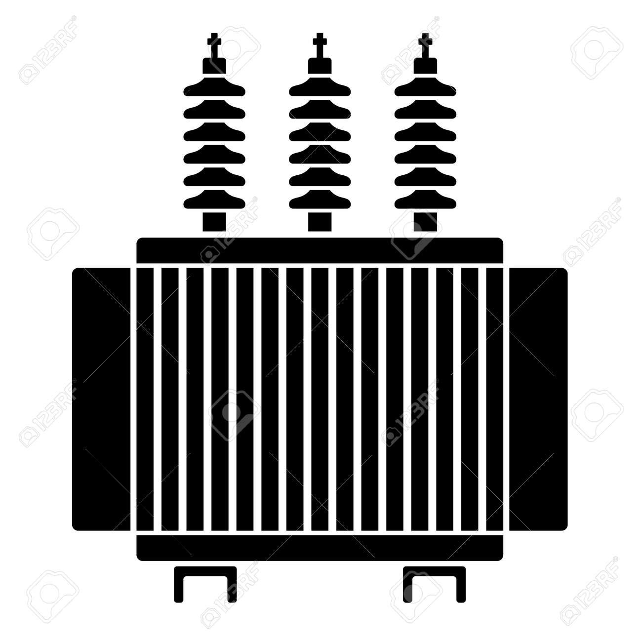 High Voltage Electrical Transformer Black Symbol Royalty Free ...