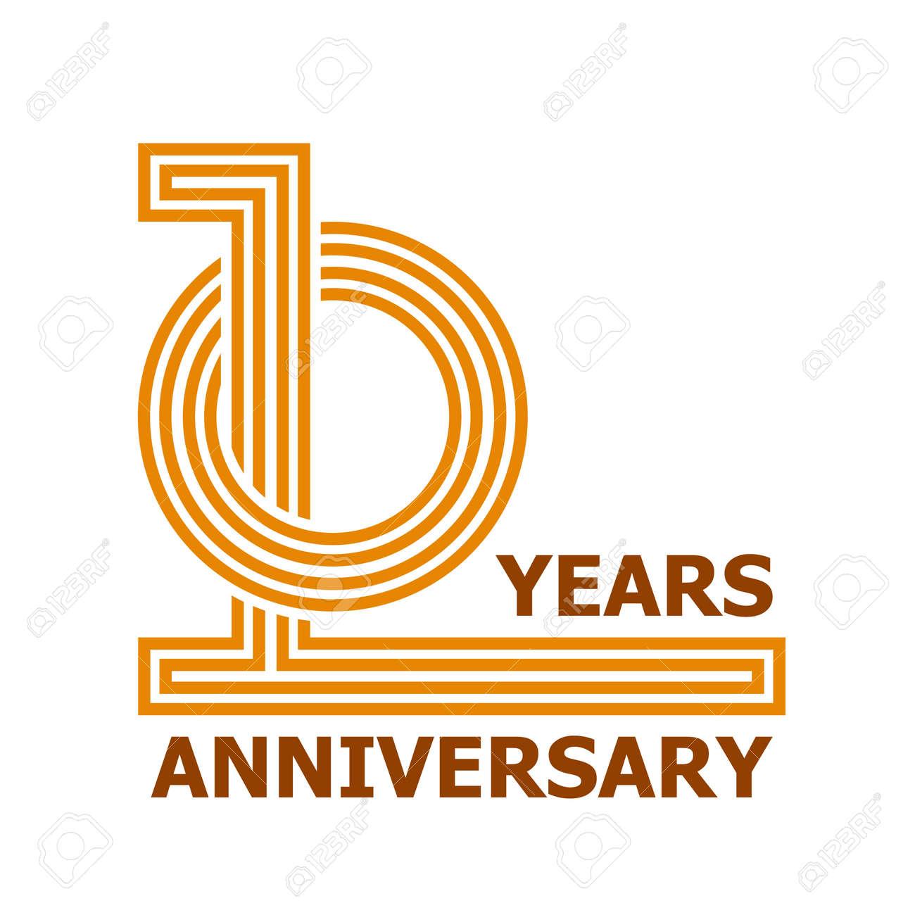10 Years Anniversary Symbol Vector Royalty Free Cliparts Vectors