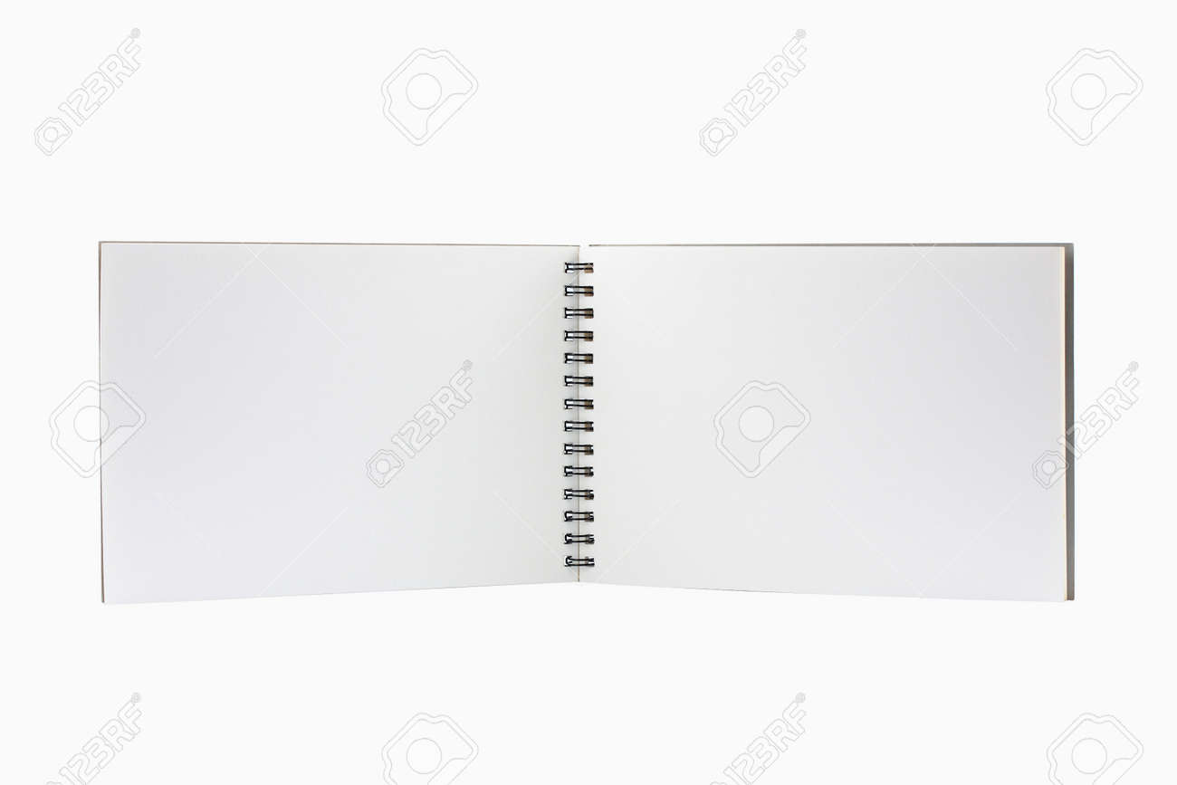blank background. paper spiral without line Stock Photo - 9605415