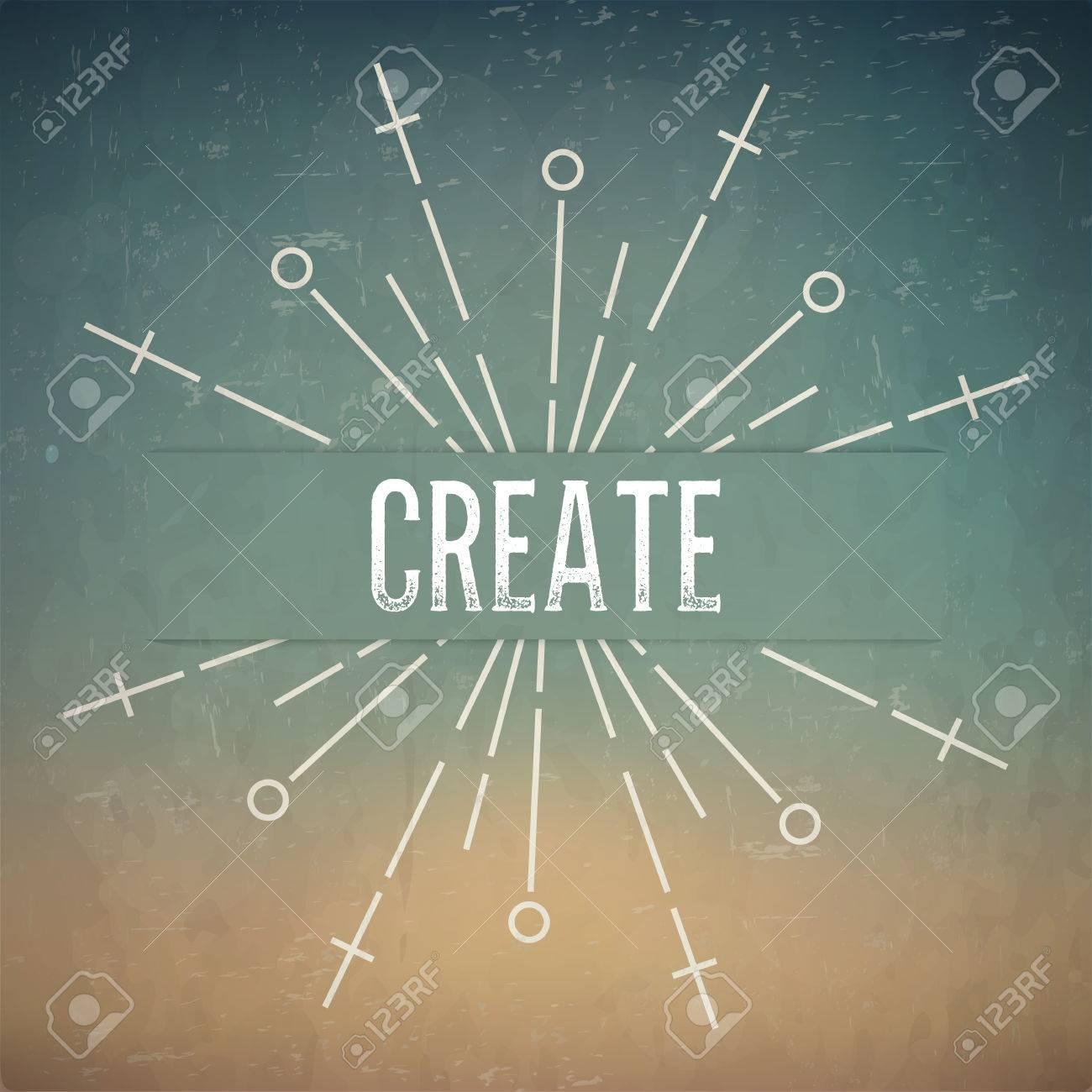 Diseño Abstracto Creativo Concepto De Diseño Vectorial Con El Texto ...