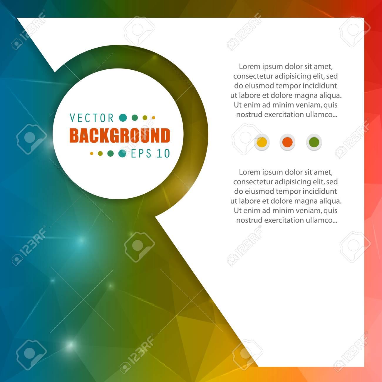 Abstract Creative Konzept Vektor-Broschüre Liste Für Web-und Mobile ...