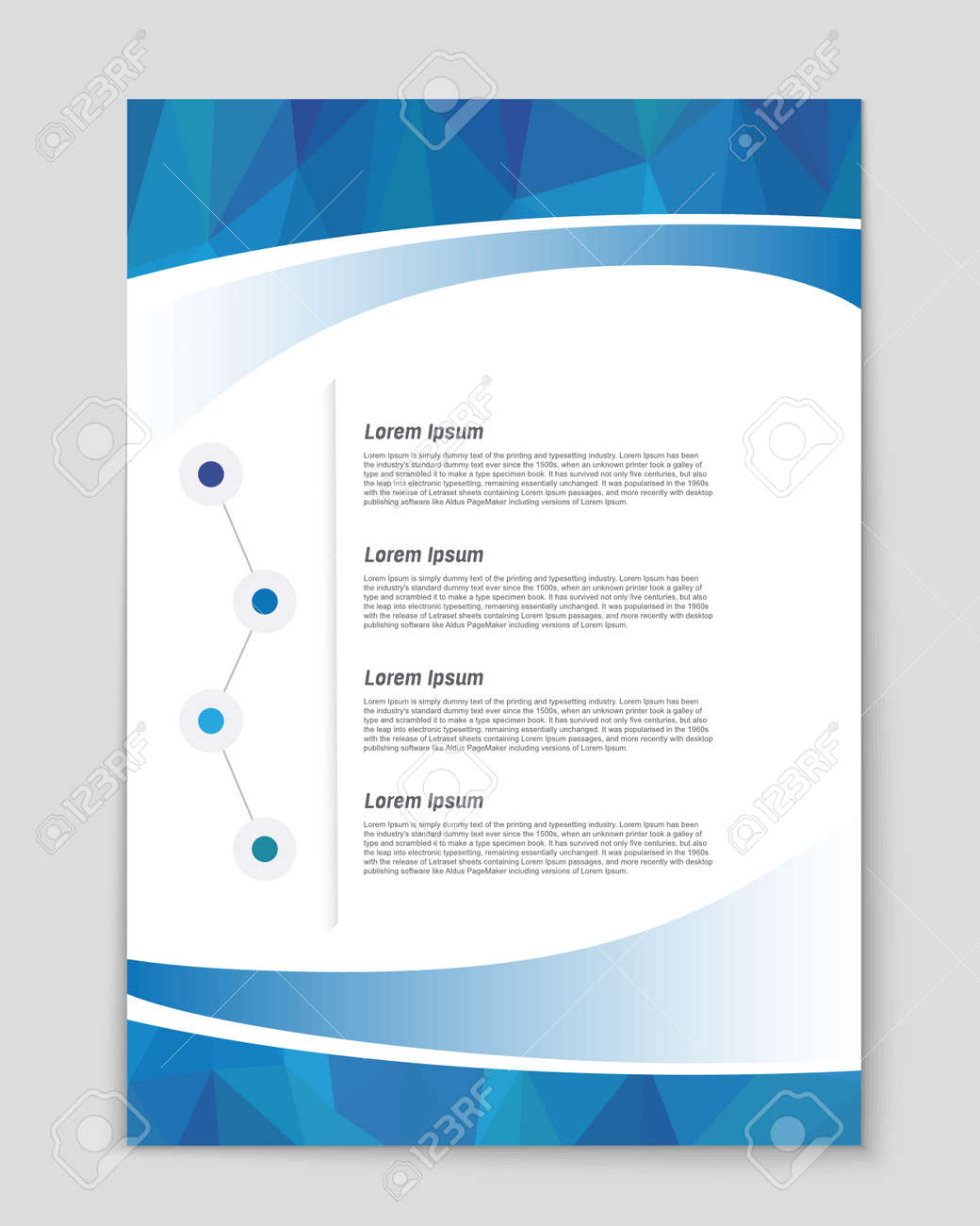 Abstract vector background for web and mobile applications, art template design, list, page, mockup brochure theme style, banner, idea, booklet, document, flyer, book, blank, card - 53716805