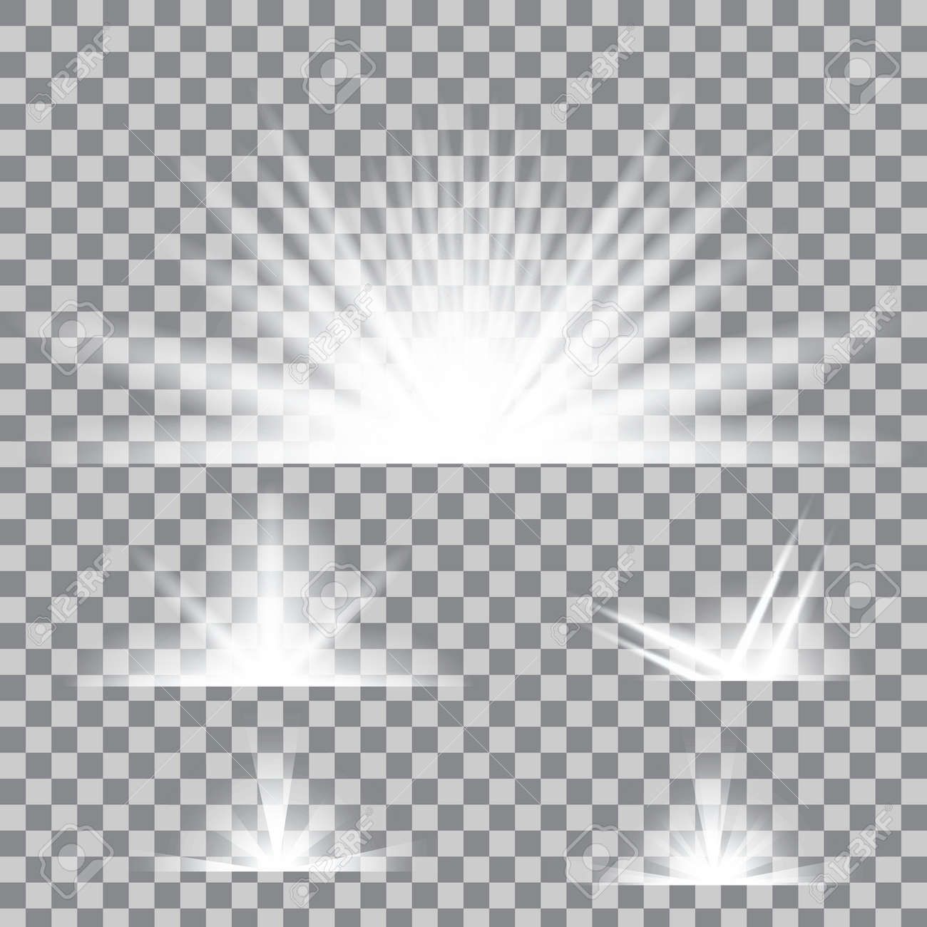 Creative concept Vector set of glow light effect stars bursts with sparkles isolated on background. For illustration template art design, banner for Christmas celebrate, magic flash energy ray. - 53911399
