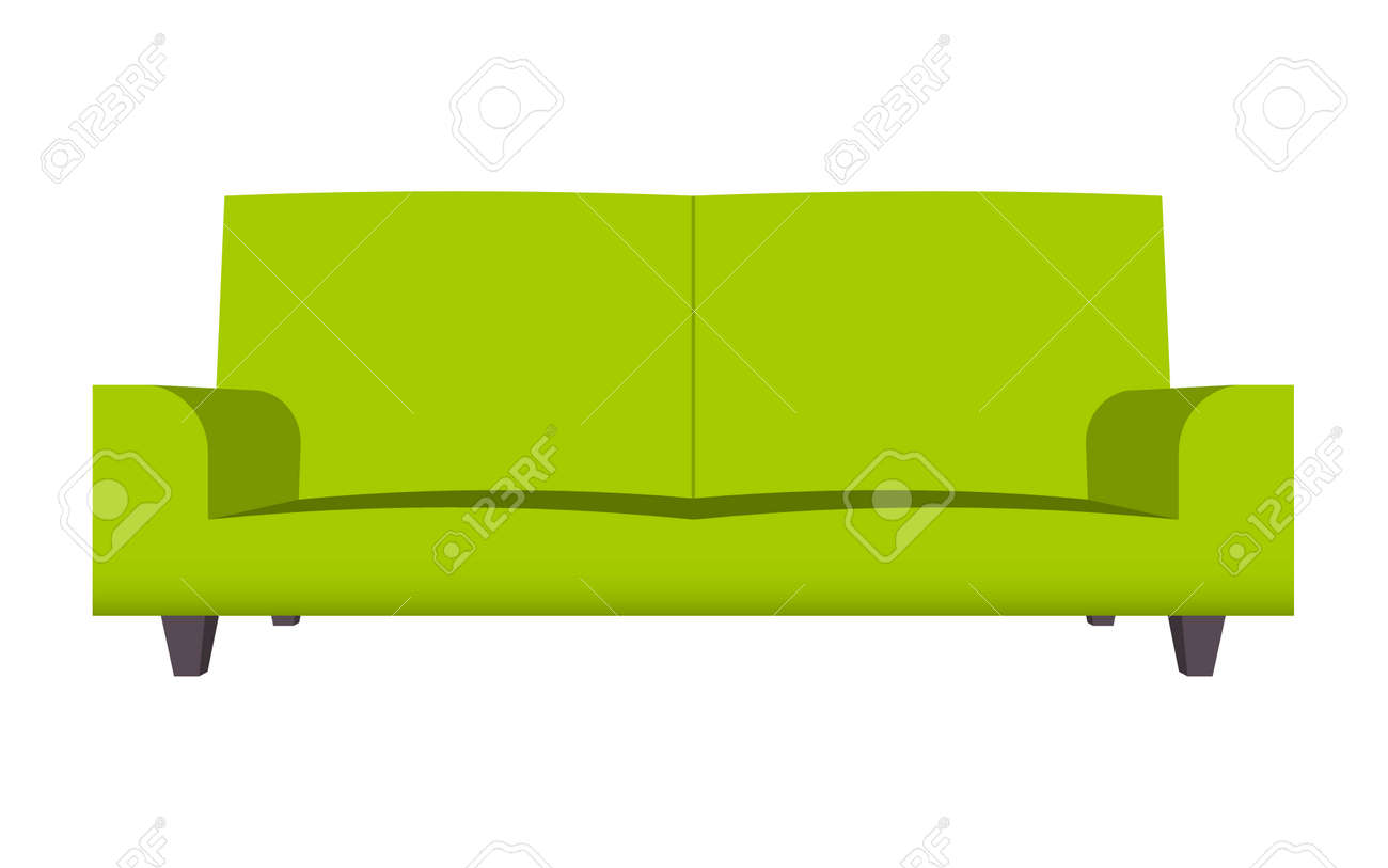 Abstract Creative Funny Cartoon Sofa Set Isolated On Transparent