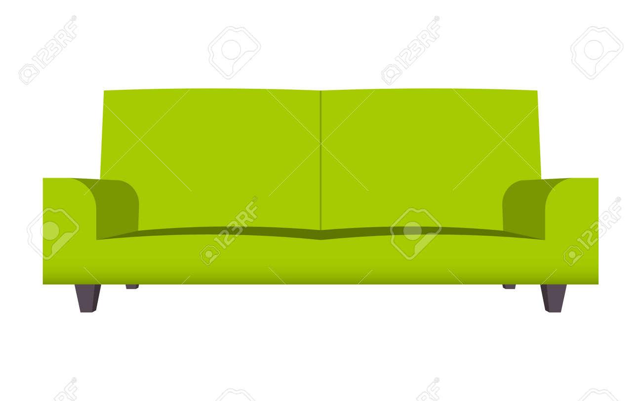 ensemble de canapé abstrait dessin animé drôle de dessin animé isolé