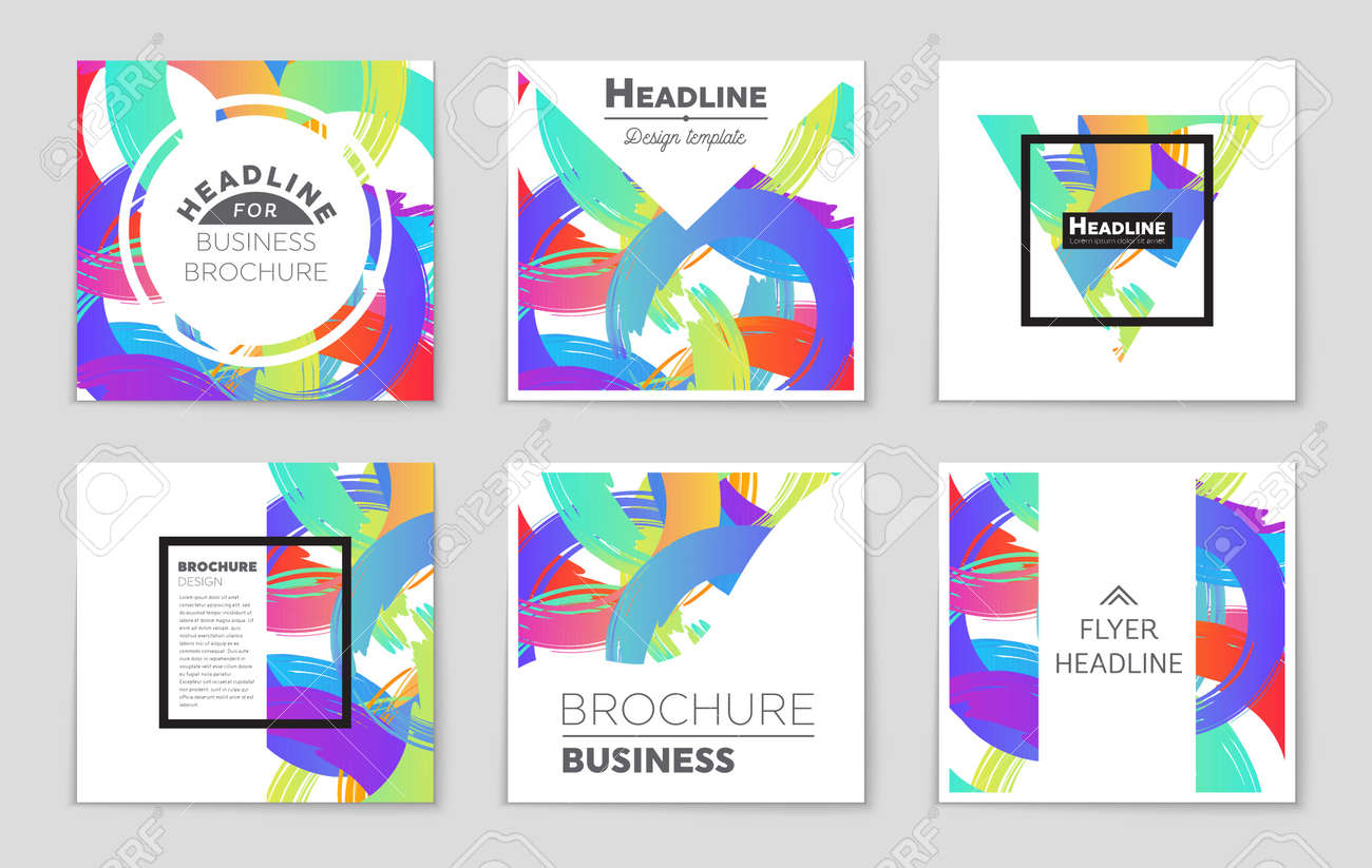 hipster concept of a booklet print flyer book blank card ad