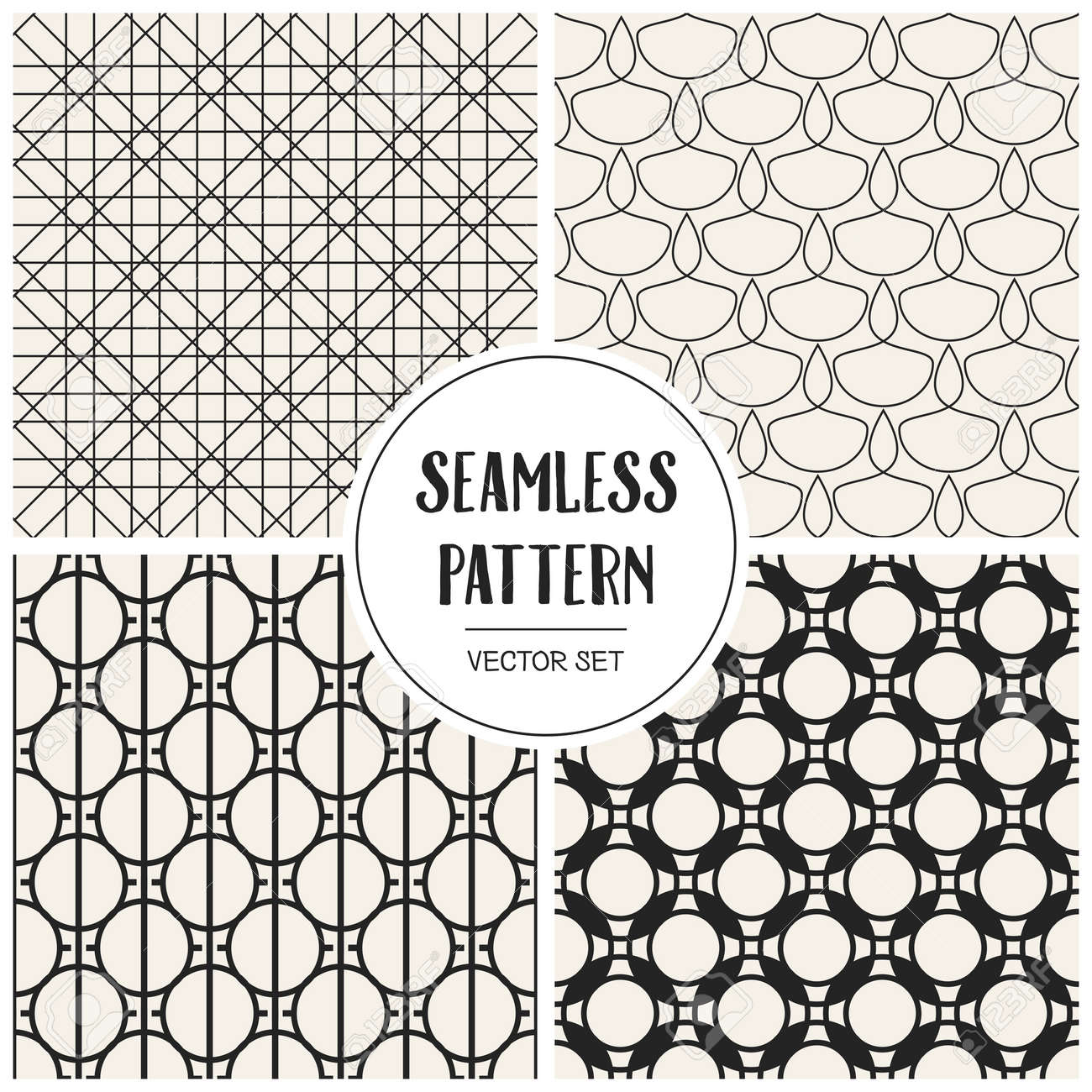 Zusammenfassung Konzept Vektor Monochrome Geometrischen Muster
