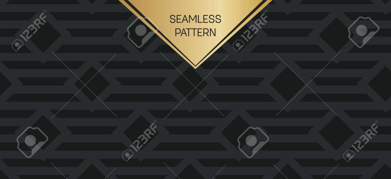 zusammenfassung konzept vektor monochrome geometrischen muster dunkelblau gold minimaler hintergrund kreative illustration vorlage - Konzept Muster