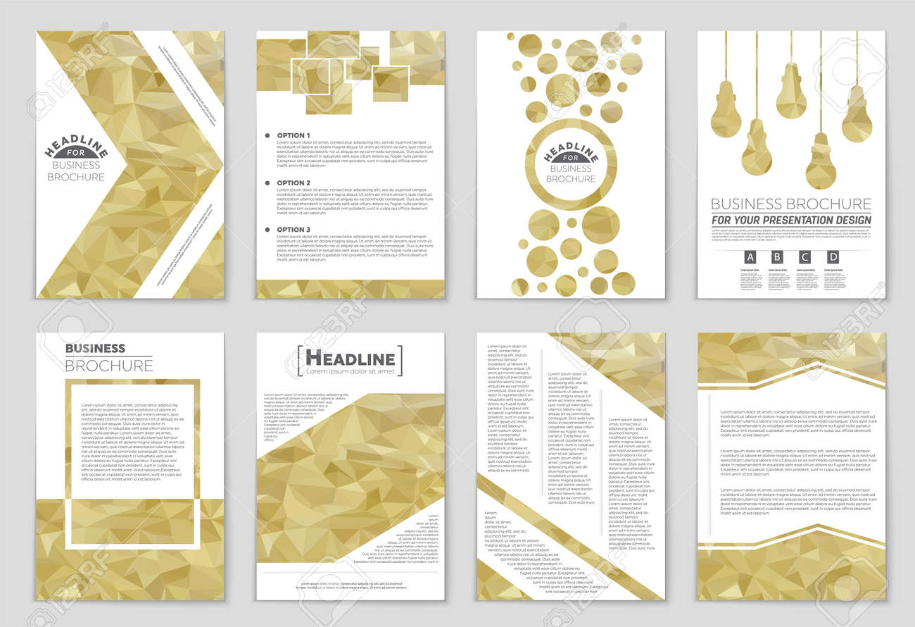 abstract vector layout background set for art template design list