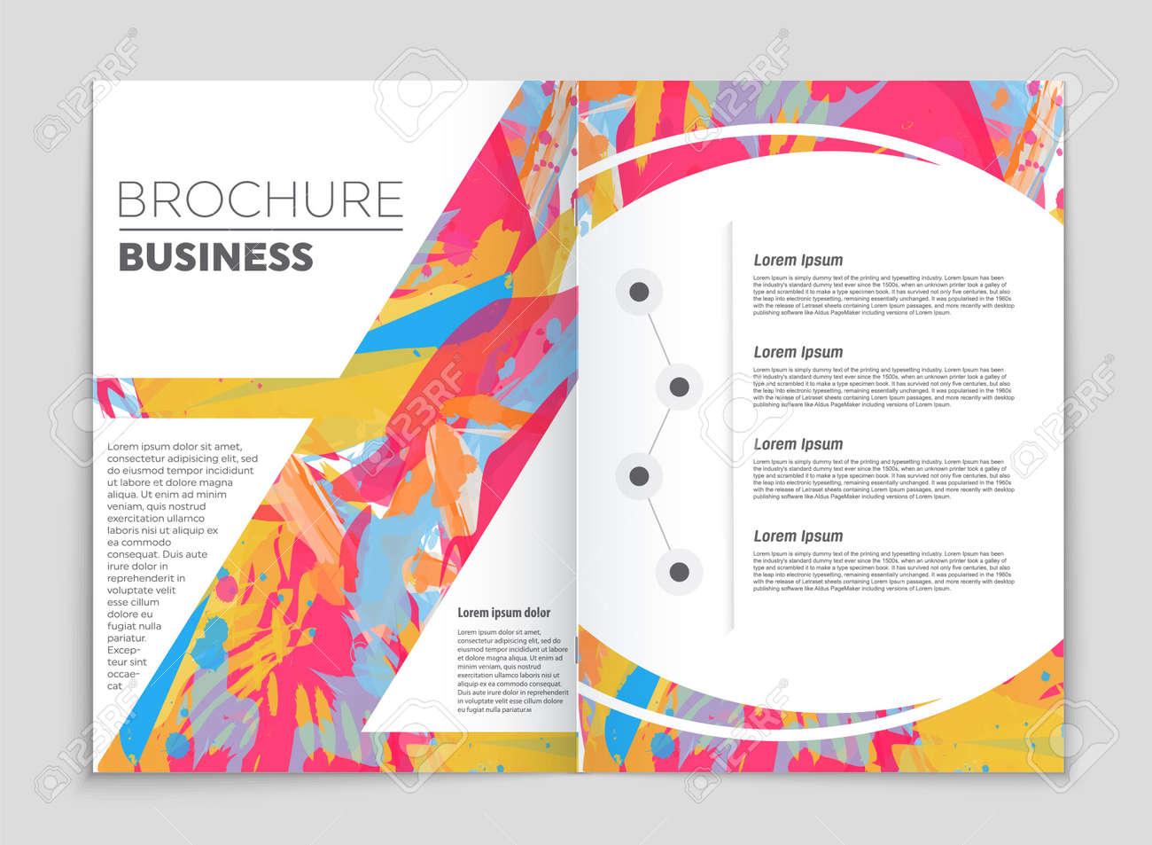 Mockup brochure set theme style