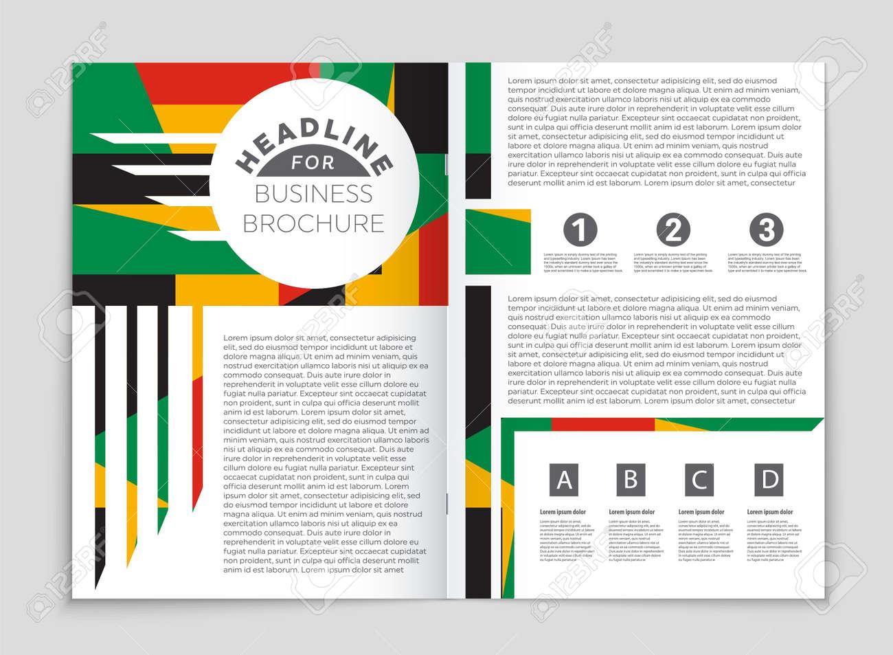 Jeu De Fond De Mise En Page De Vecteur Abstraite Pour La Conception De Modèle D Art Liste Page De Garde Style De Thème De Brochure Maquette