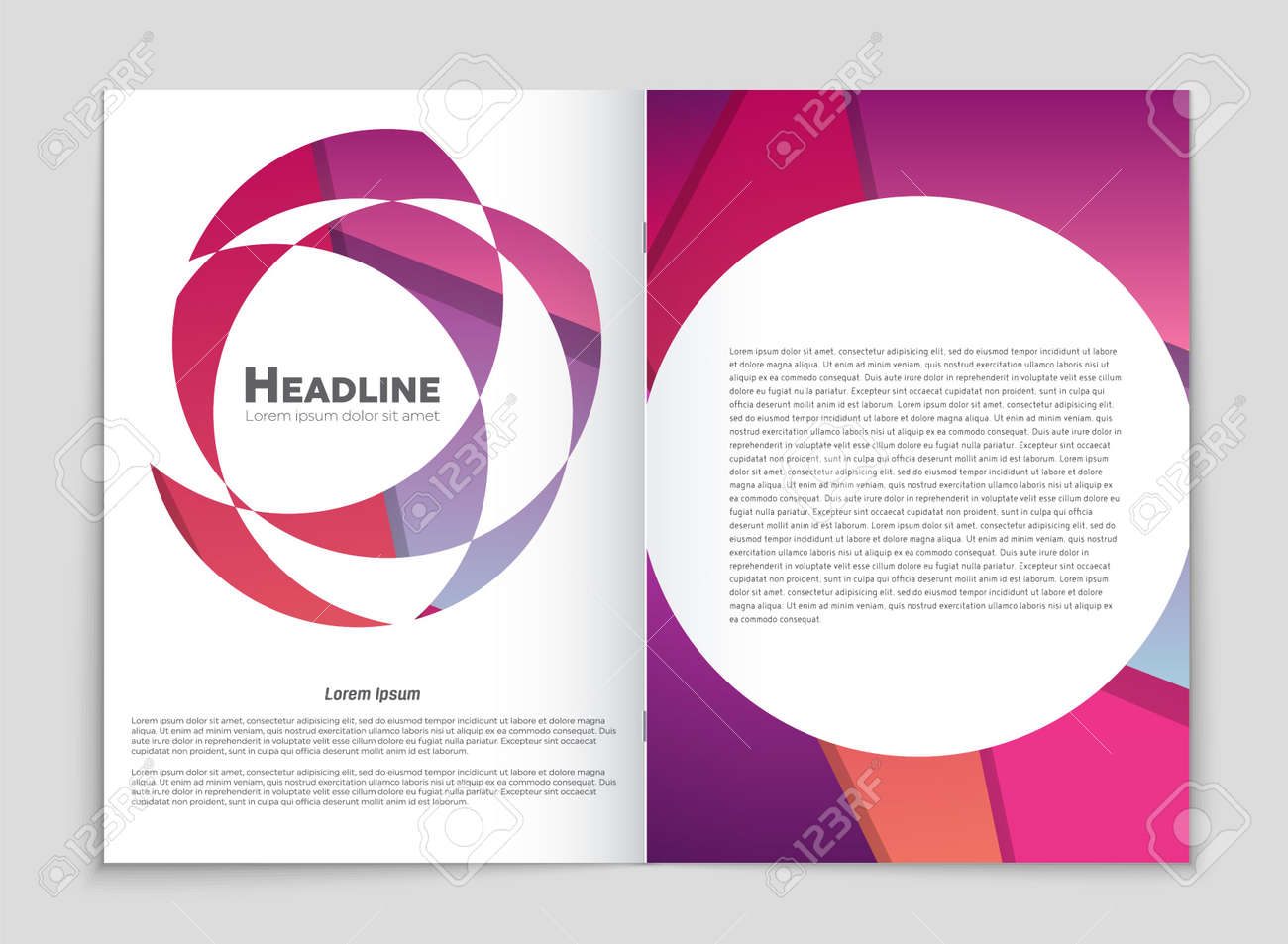 Abstract vector layout background set. For art template design, list, front page, mockup brochure theme style, banner, idea, cover, booklet, print, flyer, book, blank, card, ad, sign, sheet,, a4. - 86809786