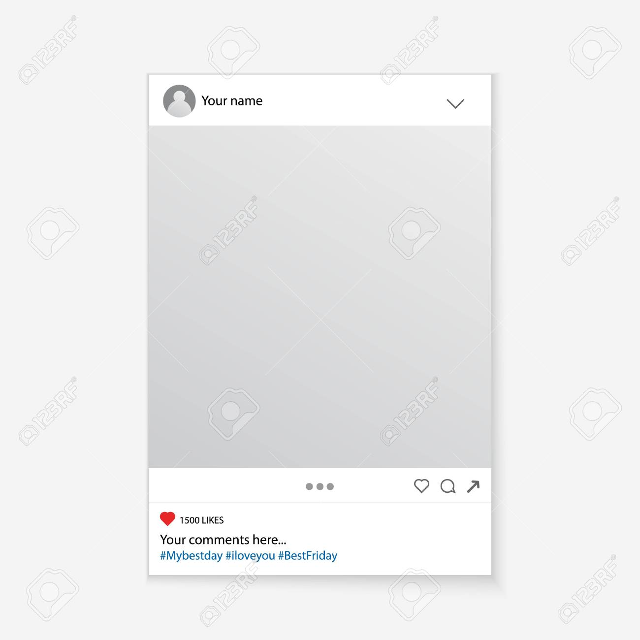 Creative vector illustration of social media photo prop frame isolated on background. Art design mockup. Abstract concept graphic element for your post - 91593400