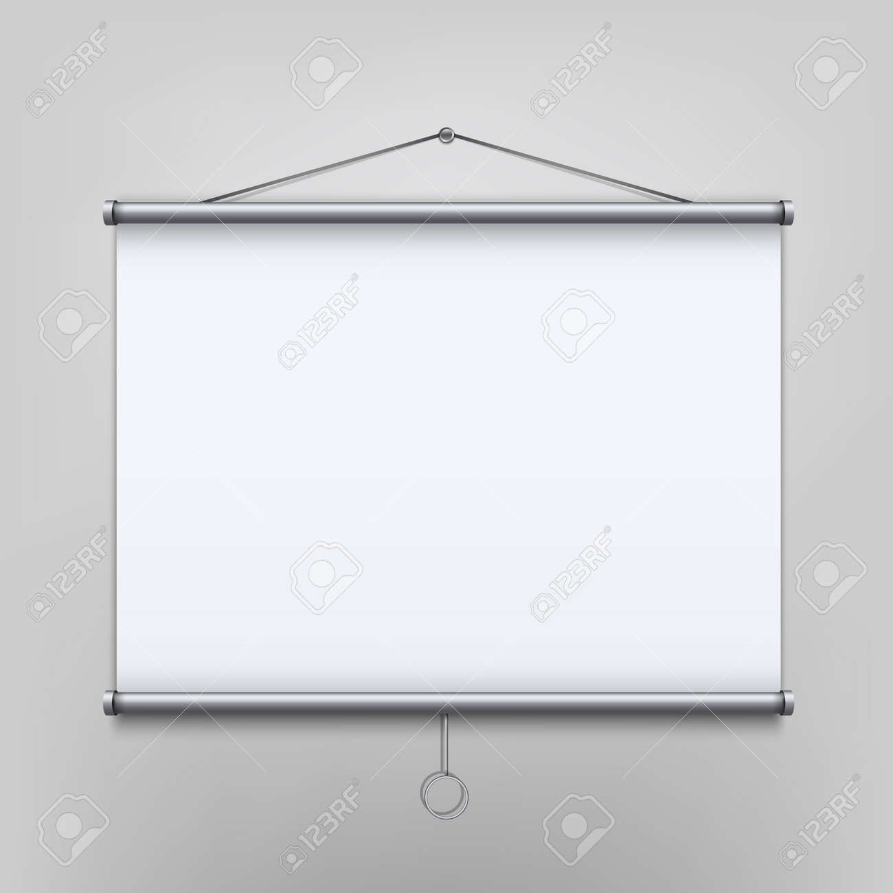 creative vector illustration of empty meeting projector screen
