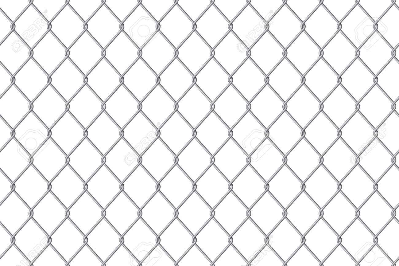 wire fence transparent. Creative Vector Illustration Of Chain Link Fence Wire Mesh Steel Metal Isolated On Transparent Background. 3