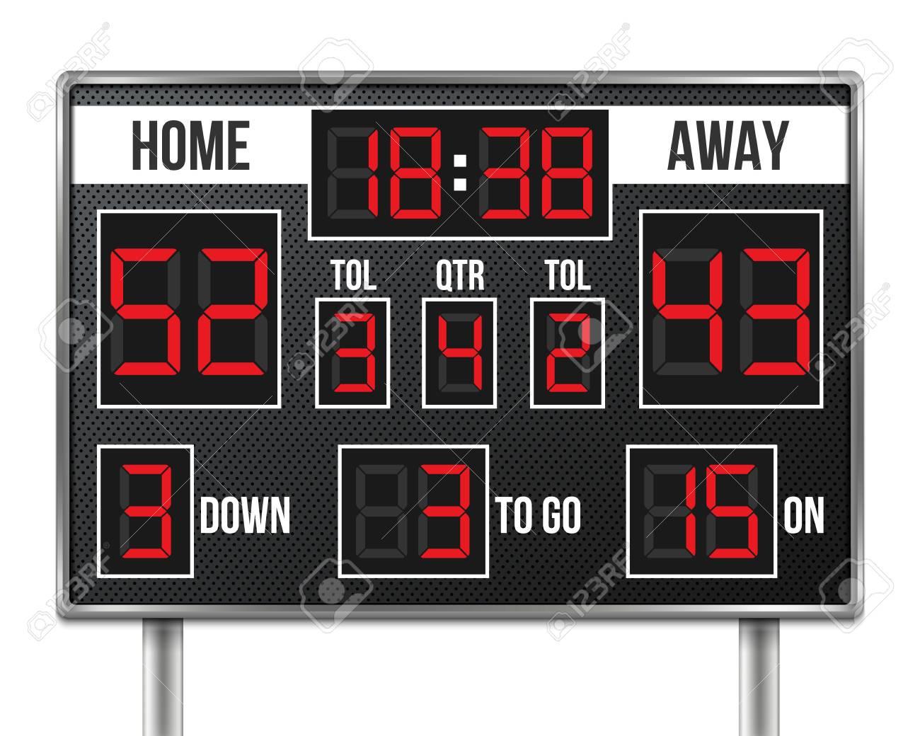 Creative vector illustration of american football scoreboard vector illustration - 96049851