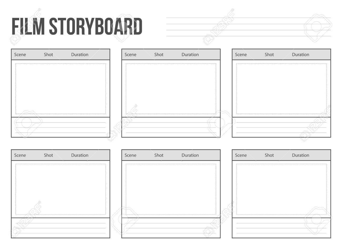 Creative vector illustration of professional film storyboard mockup isolated on transparent background. Art design movie story board layout template. Abstract concept graphic shot and scene element - 95952923