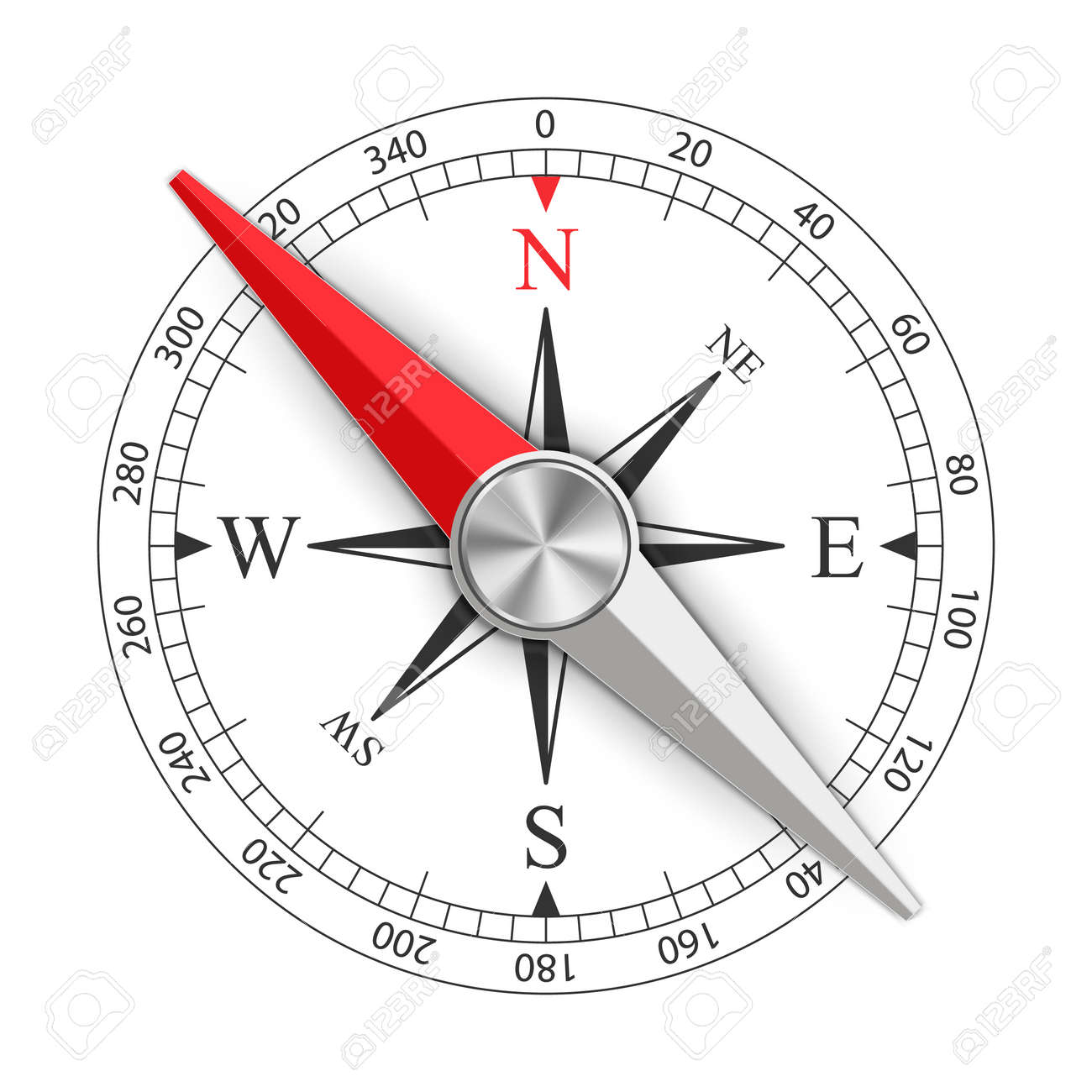 Creative vector illustration of wind rose magnetic compass isolated on transparent background. Art design for global travel, tourism, exploration. Concept graphic element for navigation, orientation. - 103105237